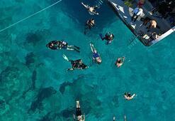 Erzurumlu 20 gencin Antalyada dalış heyecanı