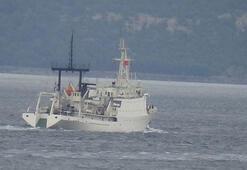 Rus istihbarat gemisi, Çanakkale Boğazından geçti