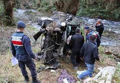 Aksarayda araç 70 metrelik Ihlara Vadisine uçtu