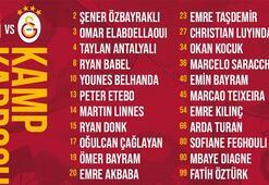 Son dakika | Galatasarayın Sivasspor maç kadrosu açıklandı