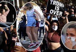 Son dakika... ABDde sonuçların ardından binlerce insan sokaklara döküldü Çığlıklar yükseliyor