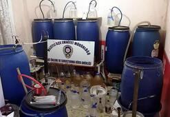 Mersinde 1700 litre sahte içki ele geçirildi