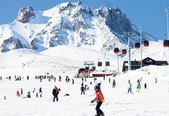 Rus ve Ukraynalılar kayak için geliyor