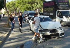 Kazaya bakma merakı yeni bir kazaya neden oldu
