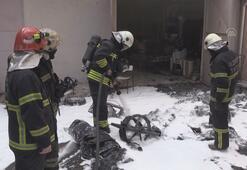 Gaziantepte üniversite öğrencilerinin geliştirdiği elektrikli otomobil yandı