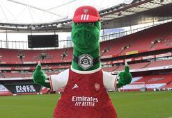 Arsenalın maskotu Gunnersaurus geri döndü