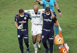 Felipe Melo, alçılı ayağını hastane odasından paylaştı...
