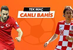 Türkiye - Hırvatistan maçı canlı bahis heyecanı Misli.comda