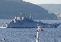 Rus savaş gemisi Novocherkassk Çanakkale Boğazından geçti