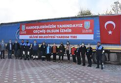 Silivri'den İzmir'e ikinci yardım TIR'ı yola çıktı