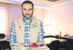 Suriyeli Yasin'den kırtasiye desteği