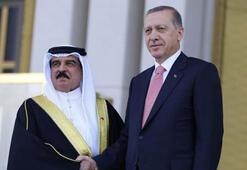 Son dakika... Cumhurbaşkanı Erdoğan,  Bahreyn Kralı ile görüştü