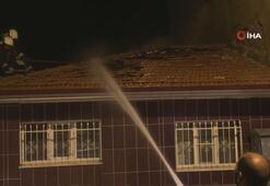 Alaşehir'de korkutan yangın
