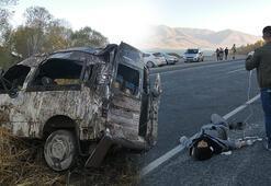 Son dakika: Yolcu minibüsü kaza yaptı Çok sayıda ölü ve yaralı var...