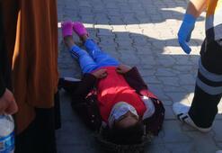 Minik kız dehşeti yaşadı Pazar yolunda otomobil çarptı