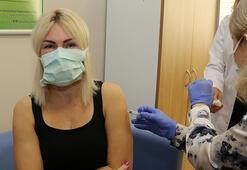Akdeniz Üniversitesi Hastanesinde ilk aşı uygulaması, Rektör Özkana