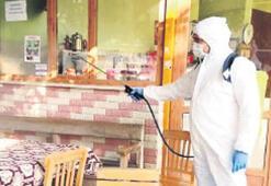 Kentin dört bir yanı dezenfekte ediliyor