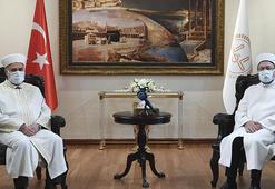 Diyanet İşleri Başkanı Erbaş, Bulgaristan Başmüftüsü Alişi kabul etti