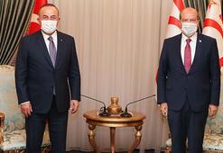 KKTC Cumhurbaşkanı Tatar, Bakan Çavuşoğlu ile görüştü