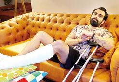 Gökhan Türkmen ayağının kırıldığını hastanede öğrendi