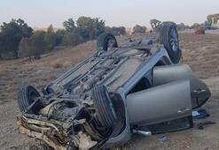 Yozgatta otomobil devrildi 2 polis hayatını kaybetti