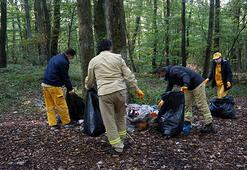 Belgrad Ormanından 30 ton çöp toplandı