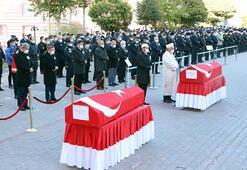 Trafik kazasında hayatını kaybeden polisler için tören düzenlendi