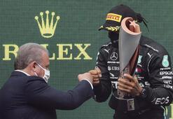 TBMM Başkanı Şentoptan şampiyon Hamiltona tebrik