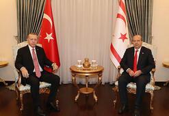 Cumhurbaşkanı Erdoğan, KKTC Cumhurbaşkanı Tatar ile görüştü