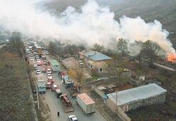 Dağlık Karabağ'dan dumanlar yükseliyor