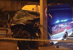 Ankarada dolmuş yön levhası direğine çarptı 1 ölü, 1 yaralı