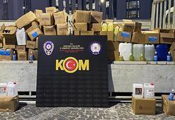 Ankarada 1 ton etil alkol ele geçirildi