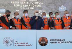 Bakan Karaismailoğlu, Aydın-Denizli Otoyolu'nun temelini attı