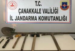 Çanakkalede kaçak kazı operasyonu: 2 gözaltı