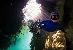 Serbest dalışçı Fatma Uruk dünya rekoru hazırlığında