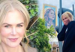 Sidneyde 18 katlı binaya Nicole Kidman portresi çizildi