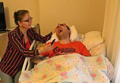 Haluk Leventin geleceğini duyan engelli gencin sevinç tepkileri