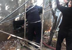 Bodrum katta yangın çıktı 2 kişi etkilendi