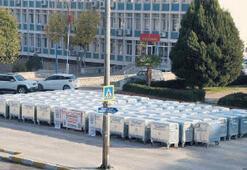 Koçarlı'ya bakanlıktan 115 konteyner