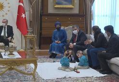 Cumhurbaşkanı Erdoğan, siyam ikizleri Derman ve Yiğiti kabul etti