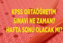 KPSS ortaöğretim sınavı ne zaman 2020 KPSS hafta sonu olacak mı