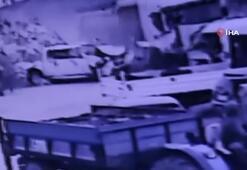 Kamyonun 11 aracı biçtiği anlar kamerada