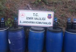 İzmirde 890 litre kaçak içki ele geçirildi