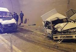 Son dakika... Yusufelinde feci kaza Otomobil paramparça oldu
