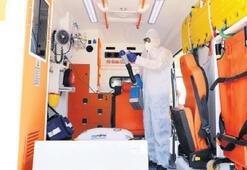 Ambulanslarında  hijyeni artırdılar