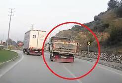 Ralli yapan kamyon kamerada