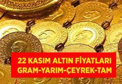 SON DAKİKA: Altın fiyatları 22 Kasım canlı takip listesi: Bugün gram, çeyrek, yarım ve tam altın ne kadar oldu
