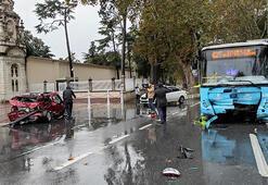 Dolmabahçedeki kazadan görüntüler