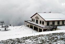 Karabükteki Keltepe Kayak Merkezi beyaza büründü