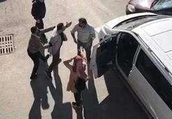Kızı korkunca çıldırdı Sürücünün üzerine yürüdü
